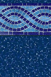 GLI Diamond Bordered Liner Modesto With Mystic Light Blue