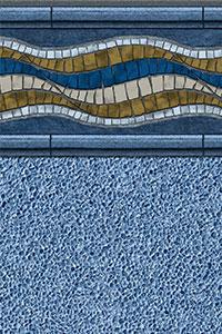 GLI Diamond Bordered Liner Santa Rosa With Gunite Light Blue