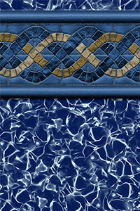 GLI Maple Leaf Bordered Liner Blue Hampton With Aquarius