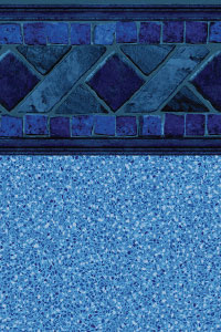 GLI Maple Leaf Bordered Liner Marco Island With Blue Crystal