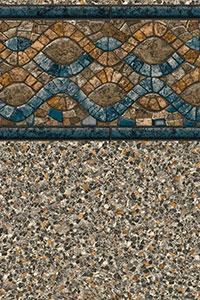 GLI Maple Leaf Bordered Liner Savannah With Sandstone