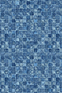 Latham Diamond Full Pattern Blue Mosaic