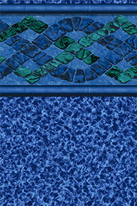 Findlay Platinum Tiled Blanchard with Blue Marble