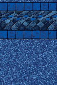 GLI Platinum Bordered Liner Blue Bali With Beach Pebble Blue