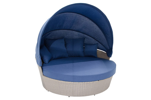 Moon Bed With Canopy Blue