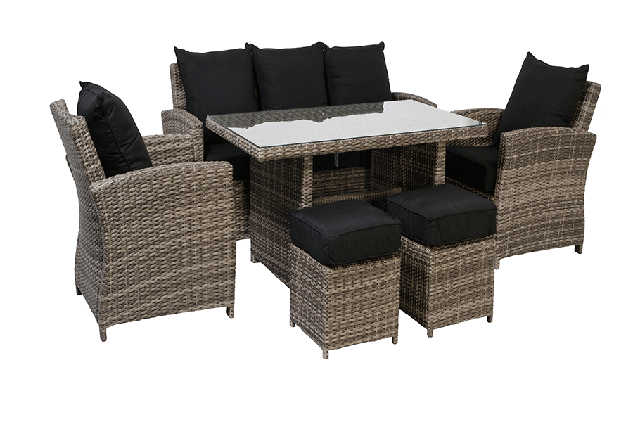Merveilleux Six Piece Deep Seating With High Top Coffee Table
