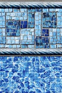 Summer River with River Tile Liner